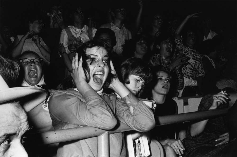 Screaming teenage Beatles fans in America.   (Photo by William Lovelace/Getty Images)