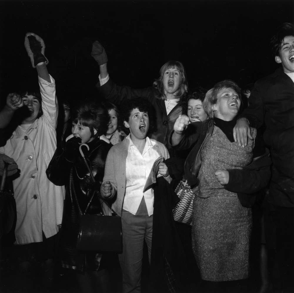 14th December 1963:  Beatle fans get hysterical.  (Photo by George Stroud/Express/Getty Images)
