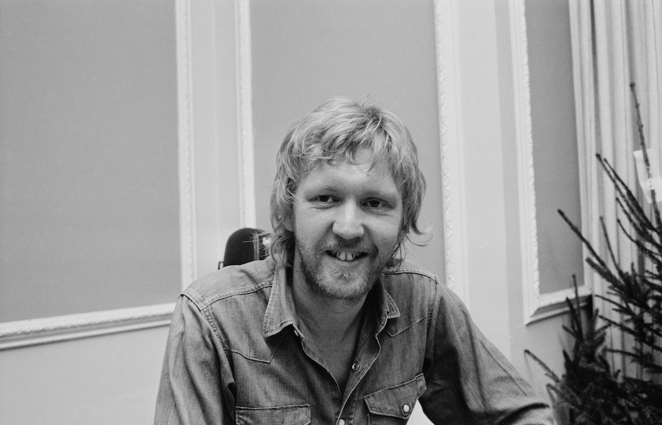 Harry Nilsson (1941 - 1994), 1972. (Photo by Stan Meagher/Daily Express/Hulton Archive/Getty Images)