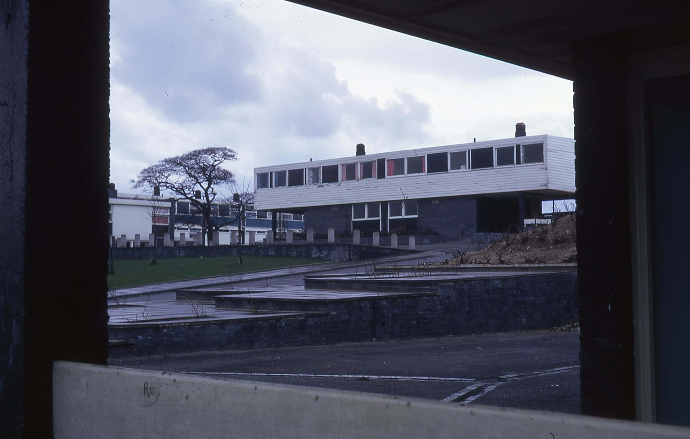 Housing designed by architect Victor Pasmore around 1970 in Peterlee New Town 2