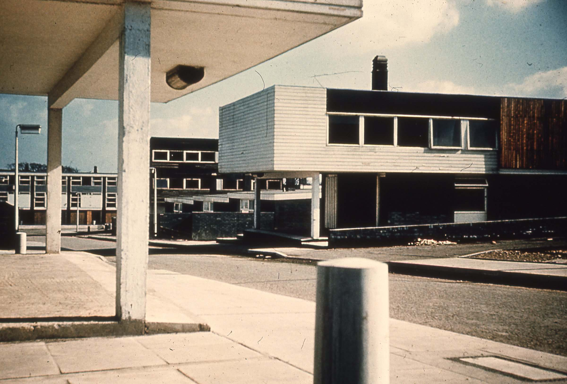 Housing designed by architect Victor Pasmore around 1970 in Peterlee by J.R. James