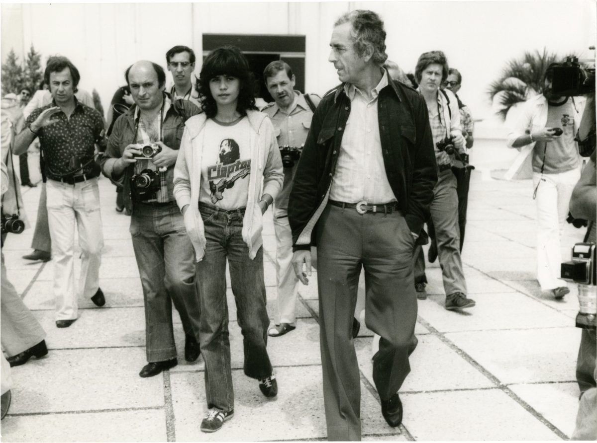 Maria Schneider and Antonioni promoting The Passenger at Cannes 1975