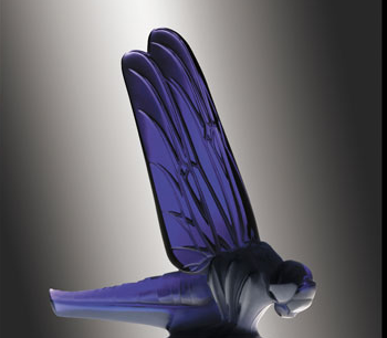 "Large Dragonfly Catalogue number: 1145 Signature identification: ""R. Lalique France"" in molded relief around base or R. Lalique France acid-etched in script along tail Date introduced: May 23, 1928"