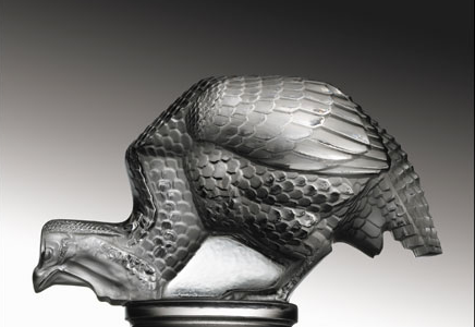 "Pintade Guinea Hen Catalogue number: 1164 Signature identification: ""R. Lalique France"" molded in relief around the lower edge of base Date introduced: September 28, 1929"