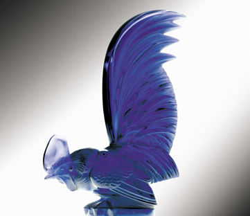 "Coq Nain Bantam Cockerel Catalogue number: 1135 Signature identification: ""R. Lalique France"" molded in relief around base Date introduced: August 3, 1926"