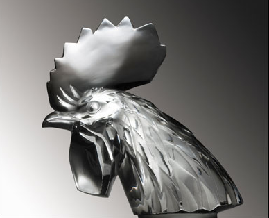 "Tête de Coq Cockerel Catalogue number: 1137 Signature identification: ""F. Lalique France"" marked via intaglio at base on front of neck Date introduced: February 3, 1928"