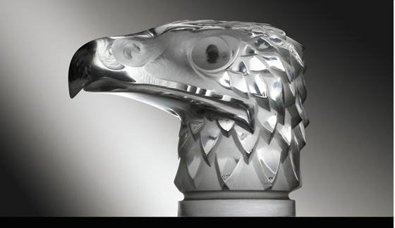"Tête Daigle Eagle's Head Catalogue number: 1138 Signature identification: ""R. Lalique France"" molded in relief around lower edge of neck Date introduced: March 14, 1928"