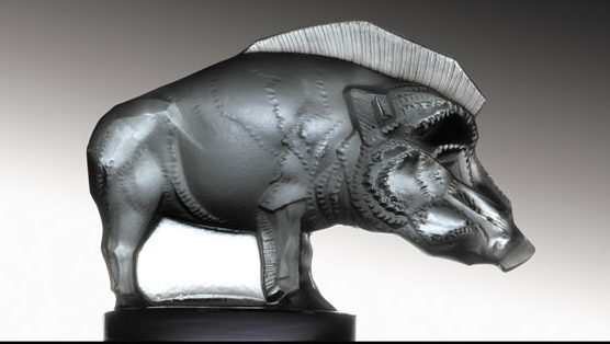 "Sanglier Boar Catalogue number: 1157 Signature identification: ""R. Lalique France"" molded in relief on the side between the front and rear legs Date introduced: October 3, 1929"