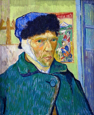 Self-portrait with Bandaged Ear, by Vincent van Gogh, 1889