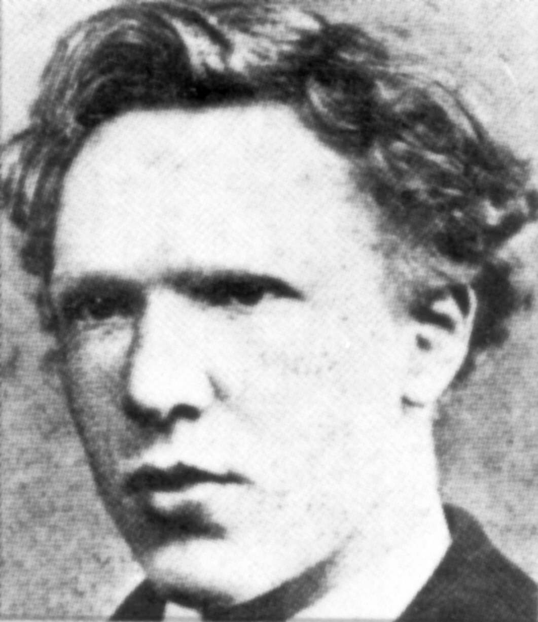 cent c.1873 aged 19. This photograph was taken at the time when he was working at the branch of Goupil & Cie's gallery in The Hague.