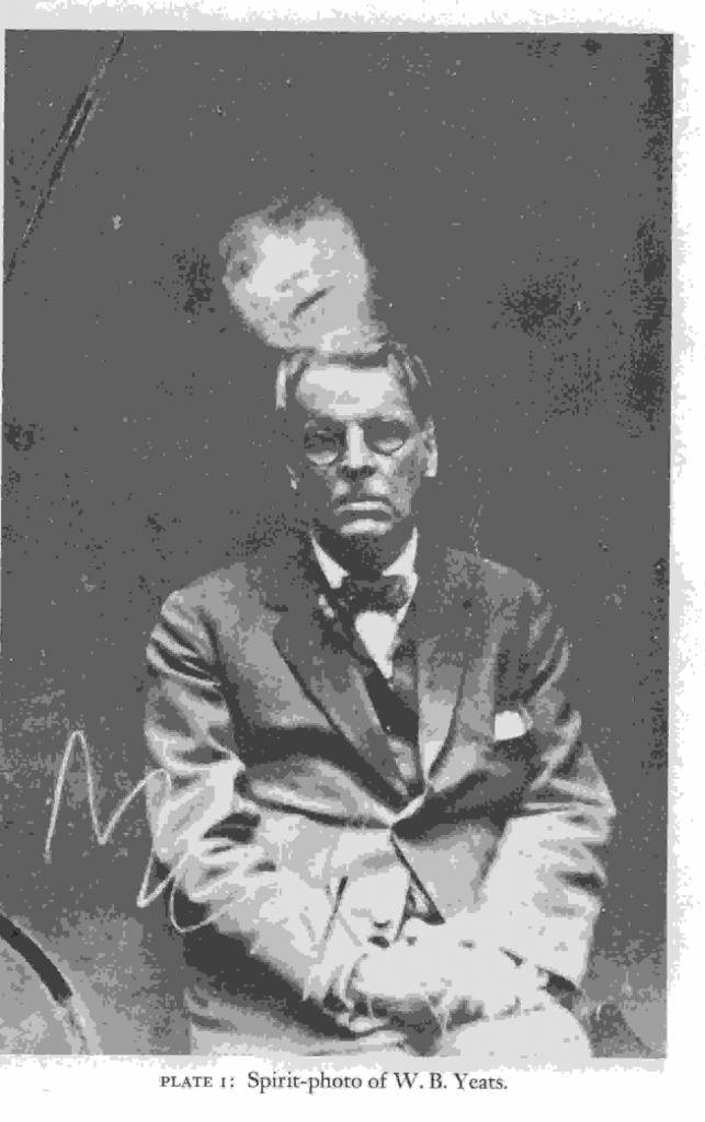 WB Yeats in Spirit photograph by William Hope