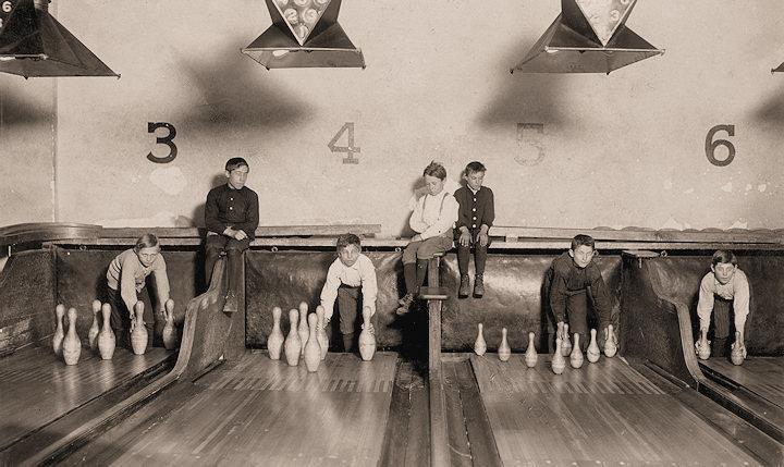 Bowling Alley Boys New Haven, Connecticut.