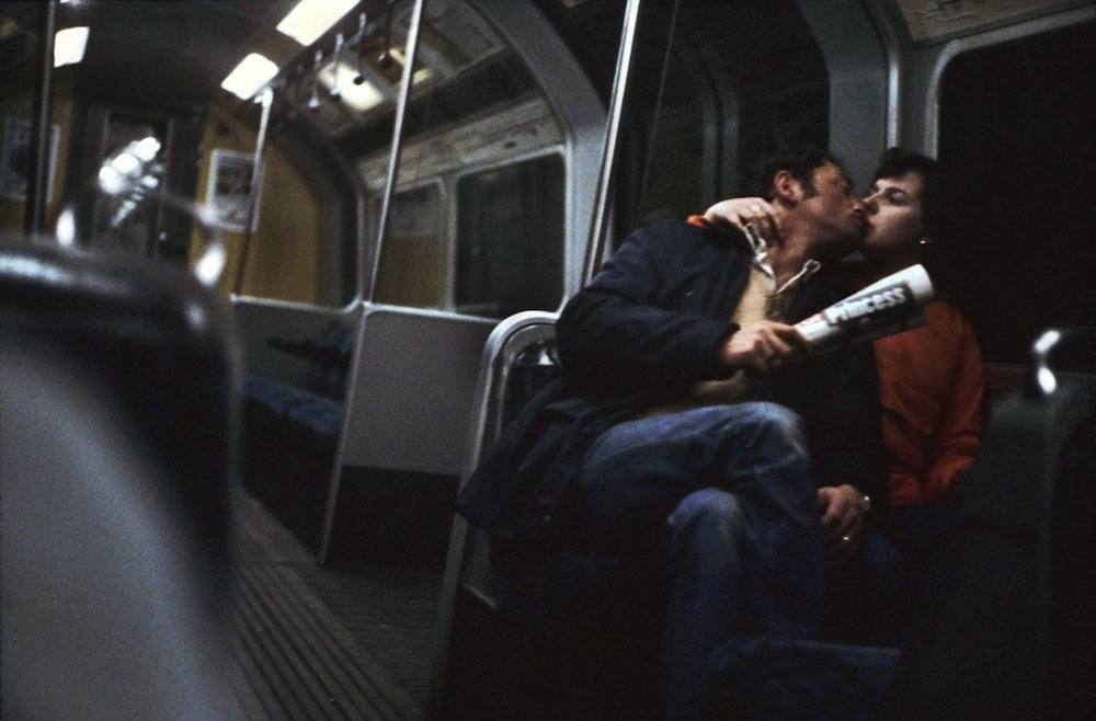 people on the London Underground 1970s 1980s