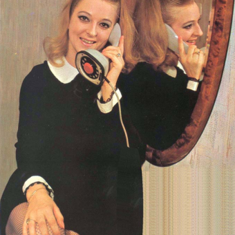 "Dial ""R"" for Retro: 1960s-80s Ladies and Their Old-School Telephones"