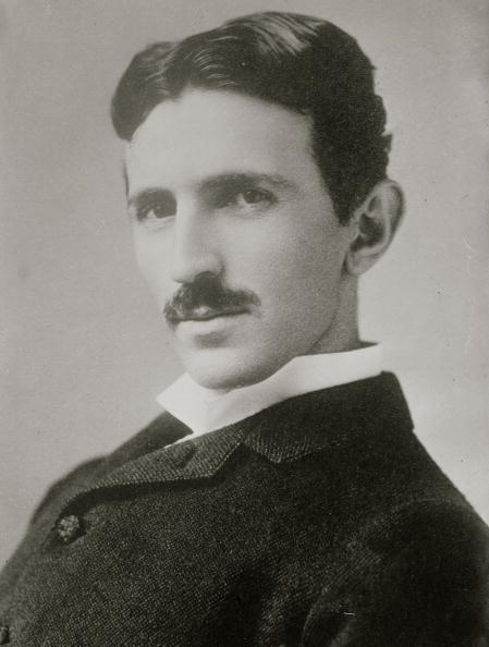Portrait of Serbian born inventor and engineer Nicola Tesla (1856 - 1943), 1906.