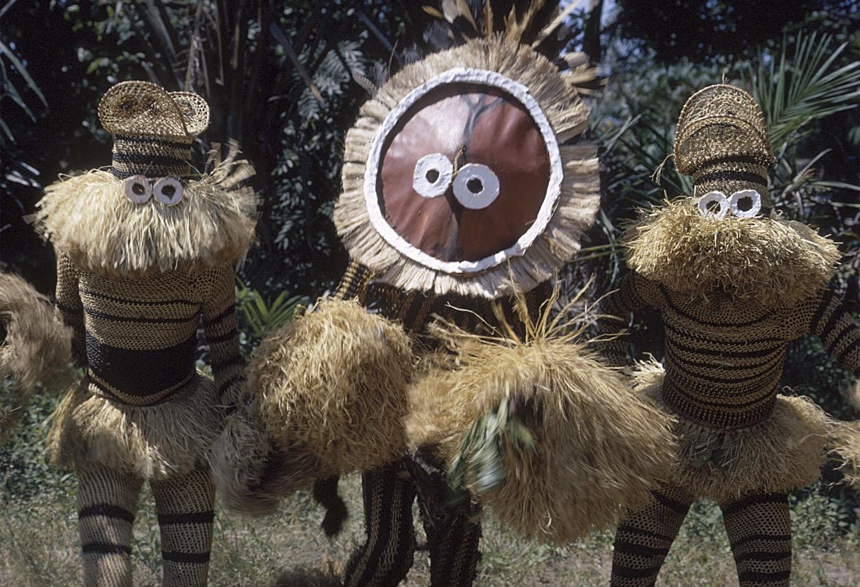 Minganji masqueraders, near Gungu, Congo (Democratic Republic),