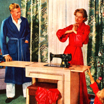 I Just Love My New Sewing Machine! Vintage Adverts of Happy Homemakers