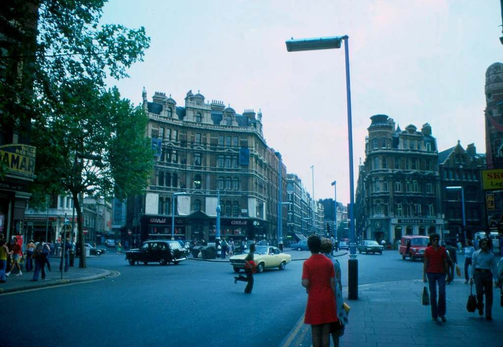British London's West-End in the Heatwave of '76 Charing Cross Road 1976