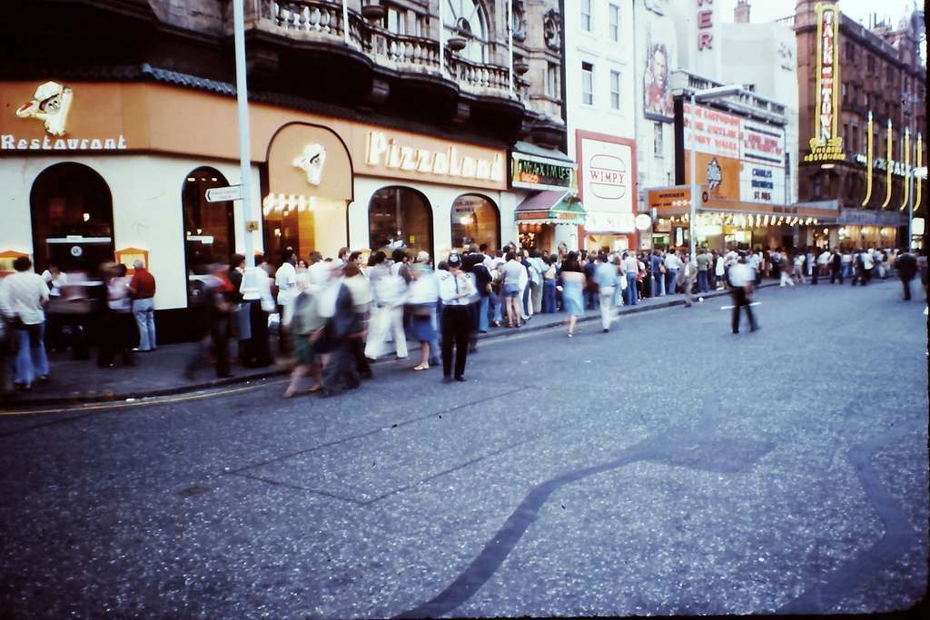 British London's West-End in the Heatwave of '76 Leicester Square