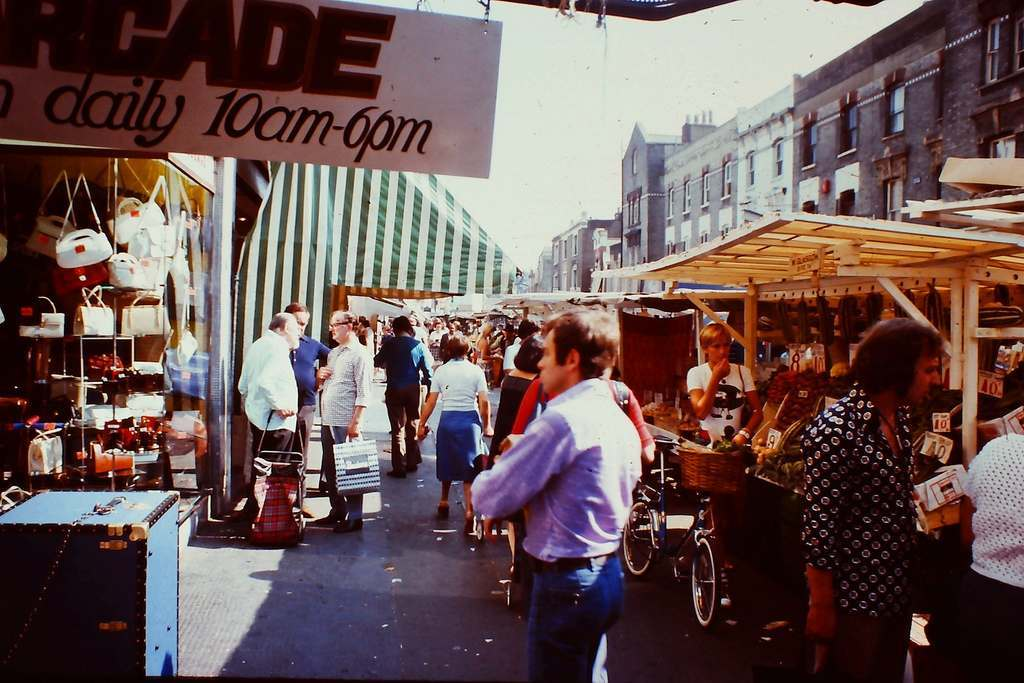 Market in Soho 1976 KH