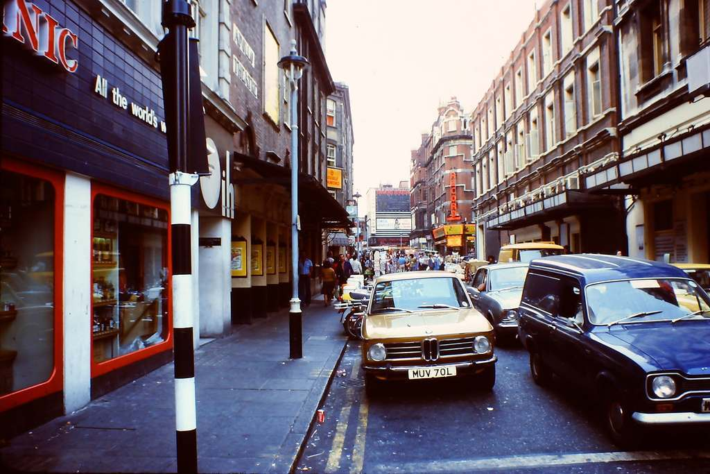 British London's West-End in the Heatwave of '76 Soho