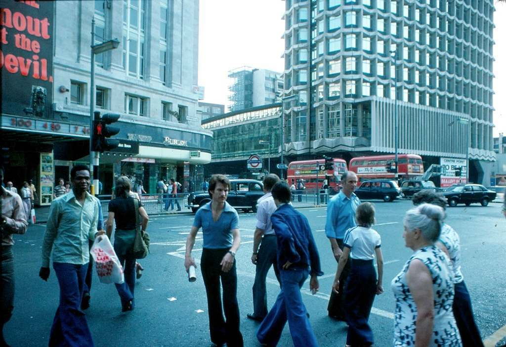 Tottenham Court Road Station 1976 KH