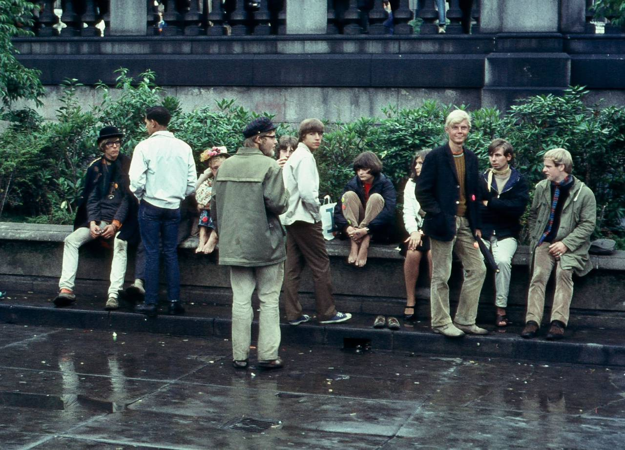 Youths in Trafalgar Square 1968