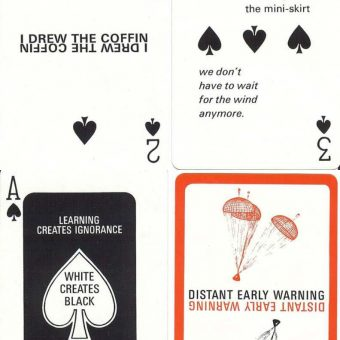 The Complete Set Of Marshall McLuhan's Distant Early Warning Playing Cards (1969)