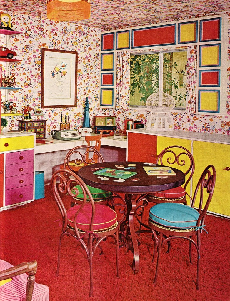 Interior design for 1960s home - 60s Home Decor Excellent Bookcases For A Vintage Home On Retro Free Highlights From The Practical