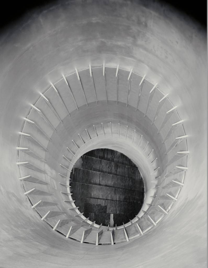 16 Foot High Speed Wind Tunnel  Description(February 8, 1942) 16ft High Speed Wind Tunnel downstream view through cooling tower section.