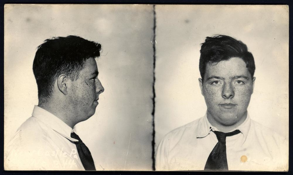 In March, 1933, Bill Harlan, the 17-year-old son of a respected local family, held up a local inn at the end of a two-month crime spree in which he broke into local homes, stole jewellery and weapons and robbed a hardware store at gunpoint. He was spared jail and spent a year in boy's reformatory.