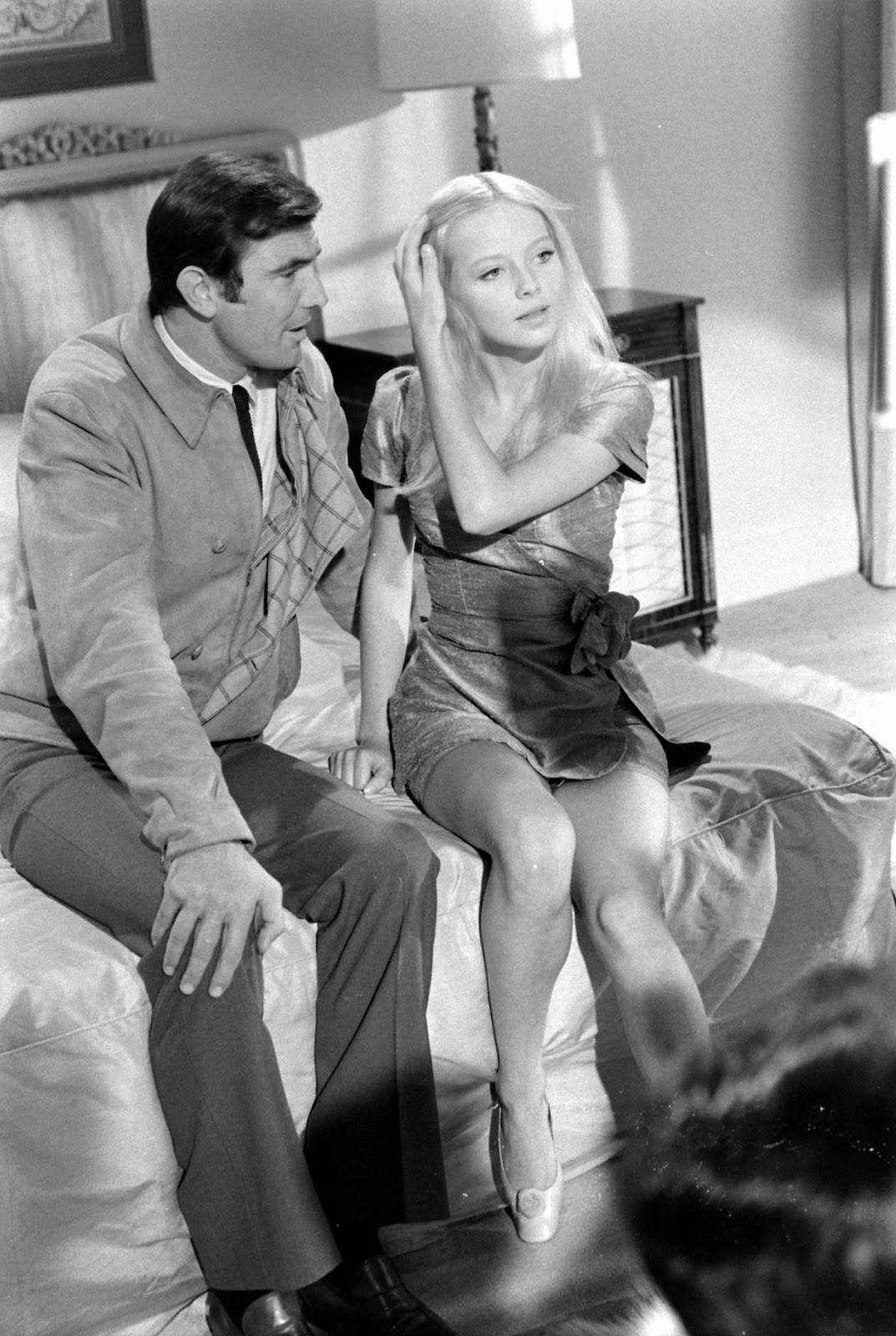 George Lazenby and Bond Girl hopeful Agneta Eckemyr during the auditions, 1967.