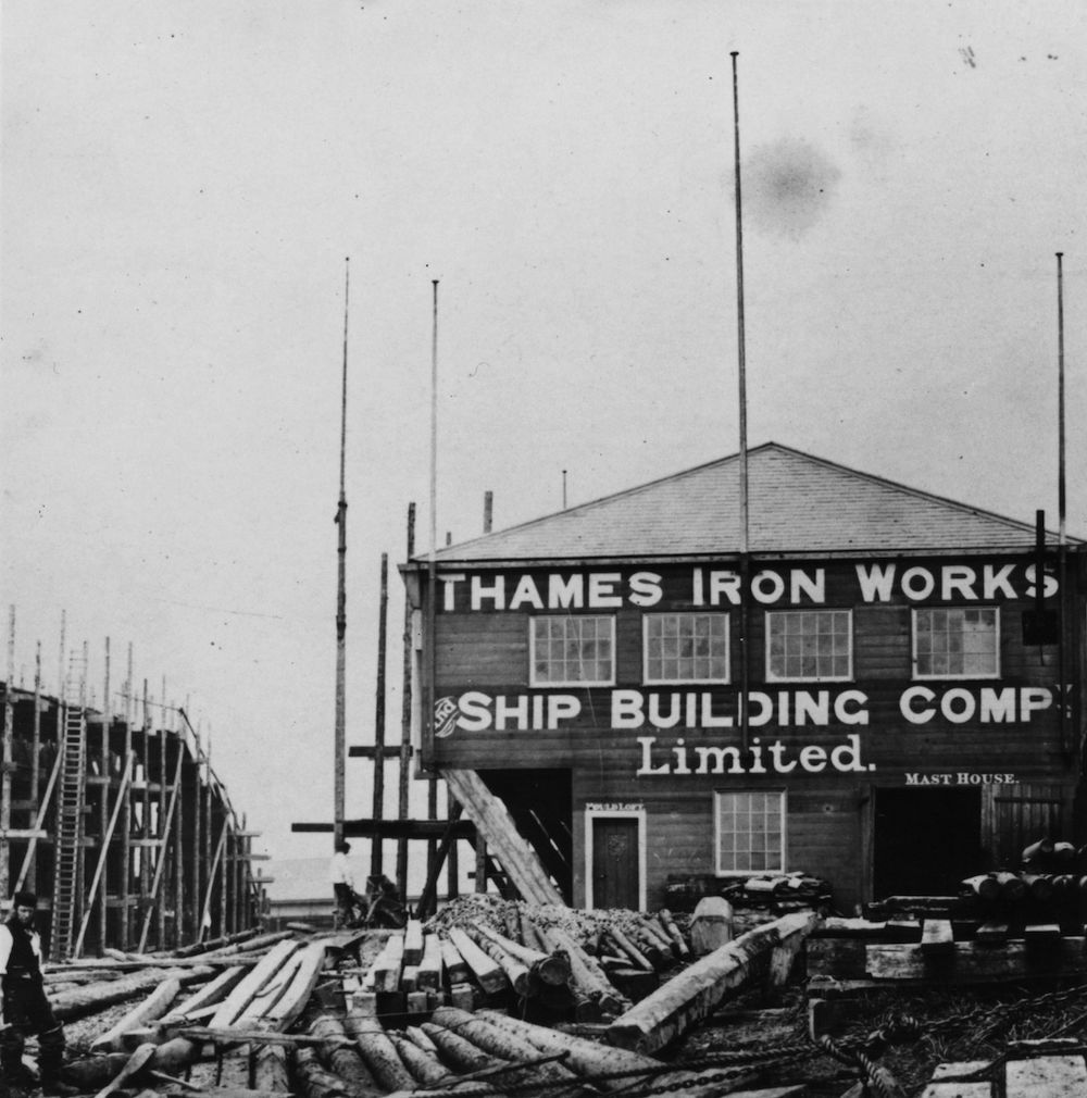 1863:  The Thames Ironworks and Shipbuilding Company.  (Photo by Hulton Archive/Getty Images)
