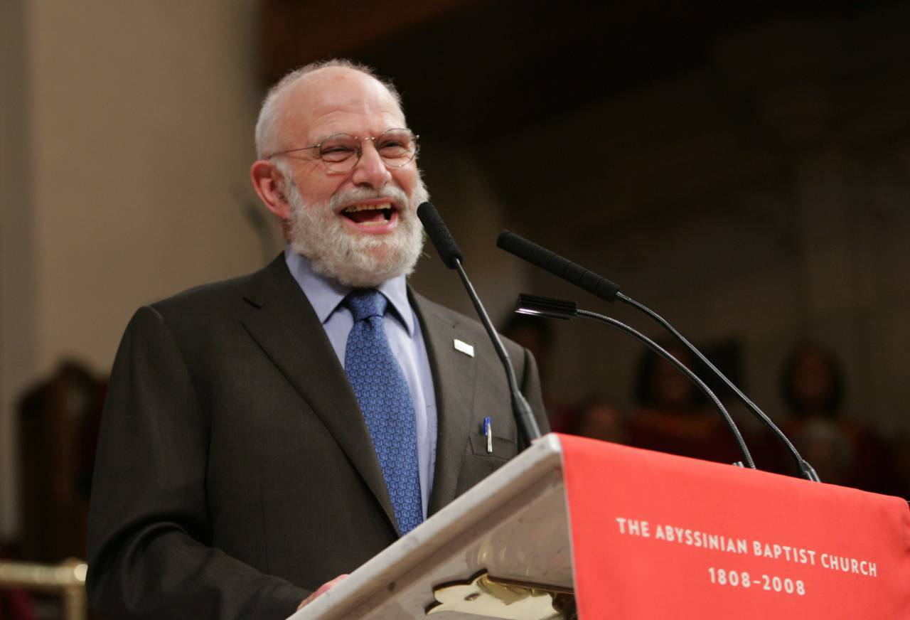 """NEW YORK, NY - MAY 31:  Dr. Oliver Sacks speaks at the """"Music & the Brain"""" presentation at the Abyssinian Church at the World Science Festival on May 31, 2008 in New York City.  (Photo by Thos Robinson/Getty Images for World Science Festival)"""