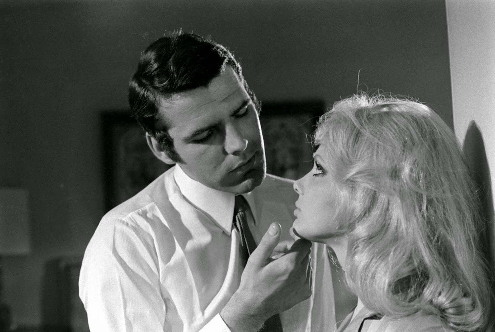 Hans De Vries (another Bond hopeful) and France Anglade, James Bond audition, 1967.