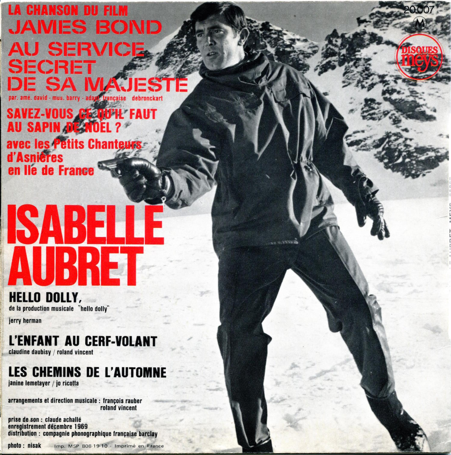 Isabelle Aubret La Chanson du Film James Bond.