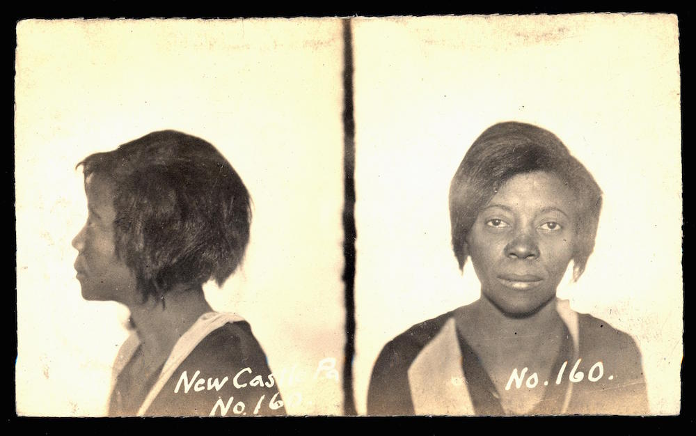 Jessie Smith left her home in South Carolina before the First World War and spent the next two decades working as a prostitute in New Castle. Her mug shot was taken on 22 February, 1932, after she stole a client's pocketbook.