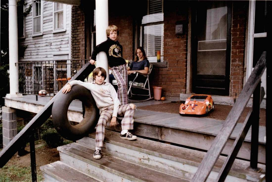 Inner Tube and Toys on Porch, 1977