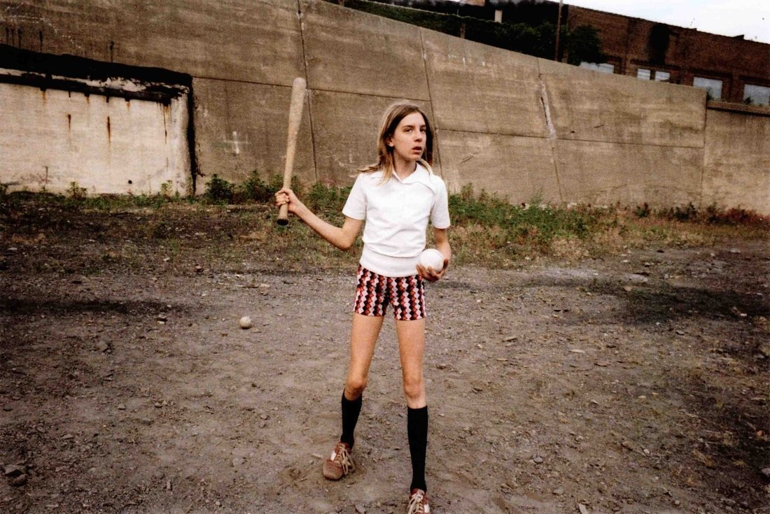 Girl with Bat and Ball, 1977
