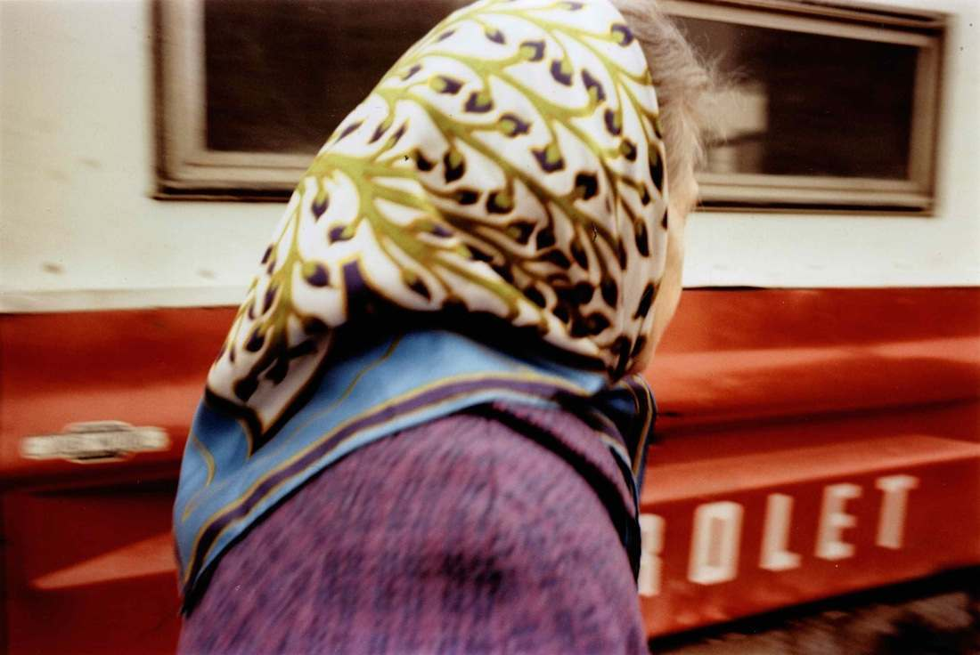 Woman in Scarf, 1975