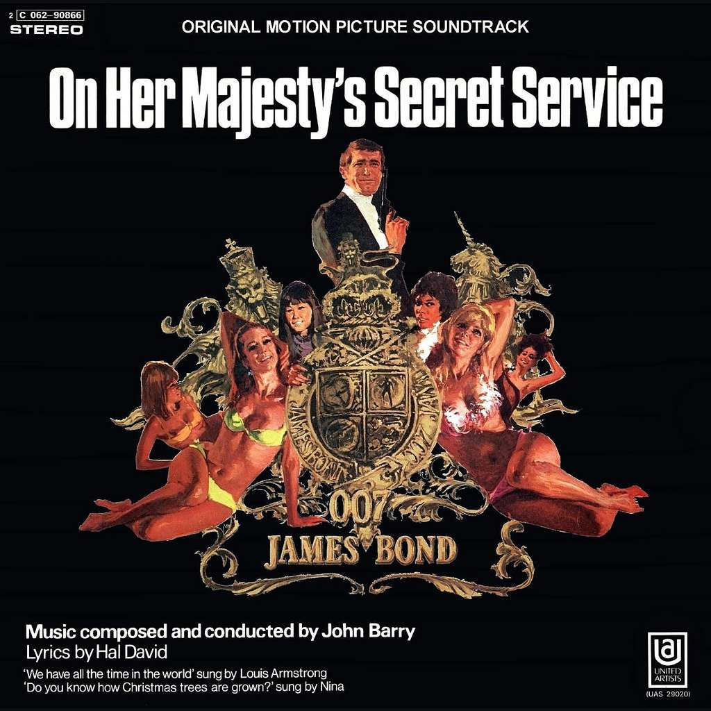 On Her Majesty's Secret Service original soundtrack cover.