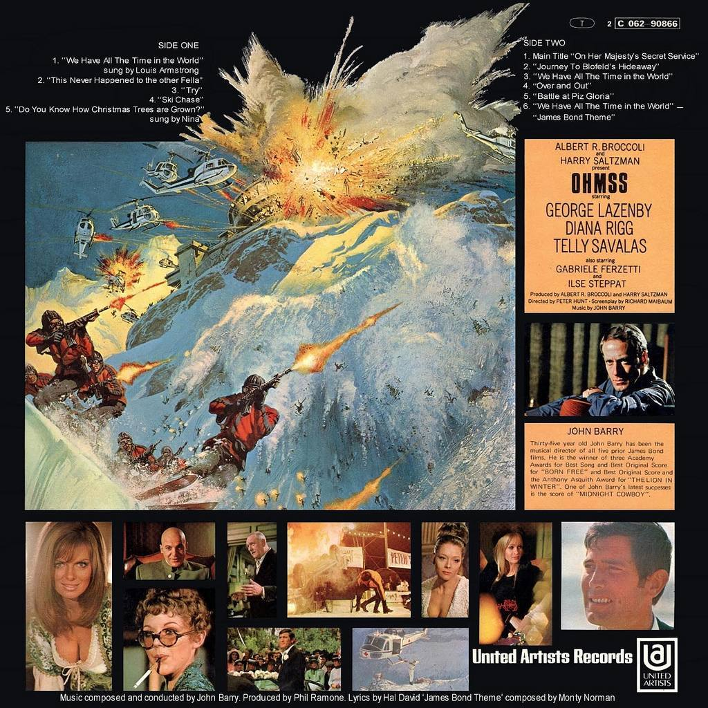 Back cover of the original soundtrack.