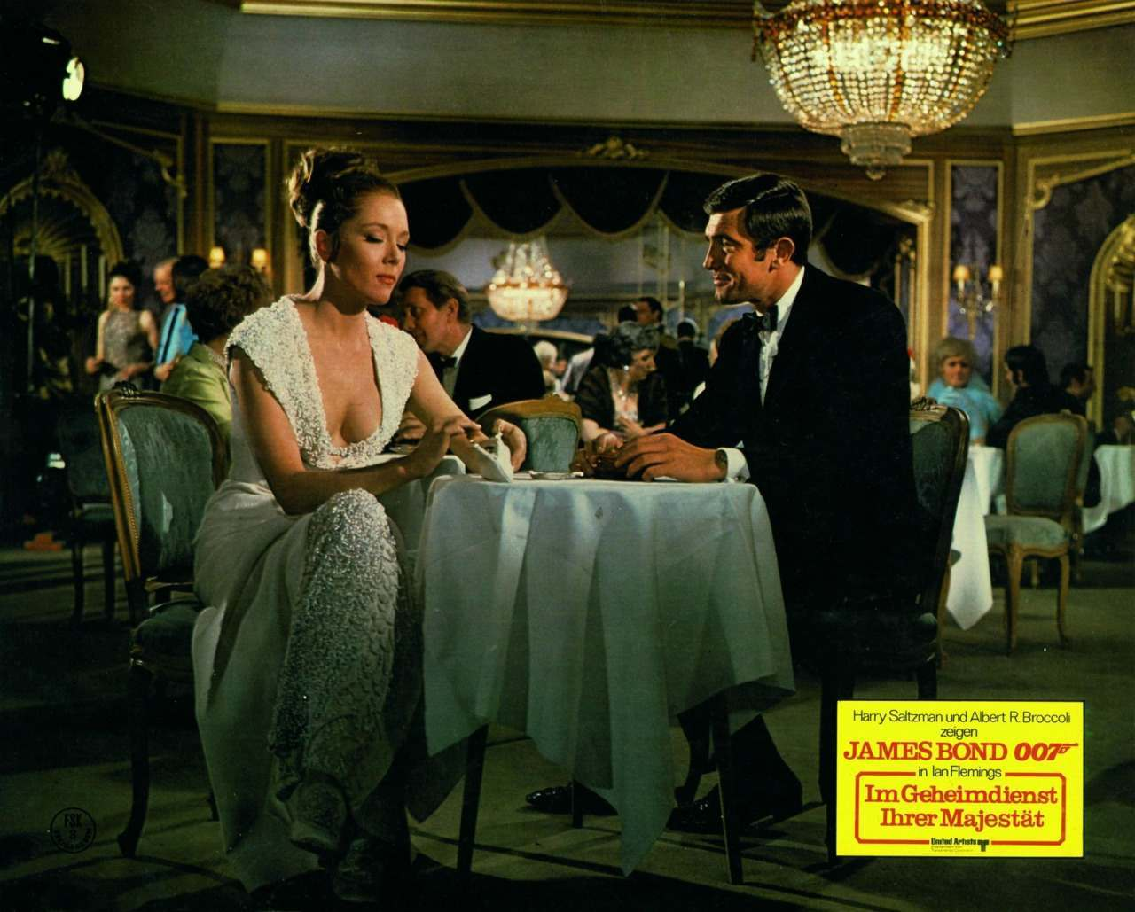 On Her Majesty's Secret Service, German lobby card, 1969.