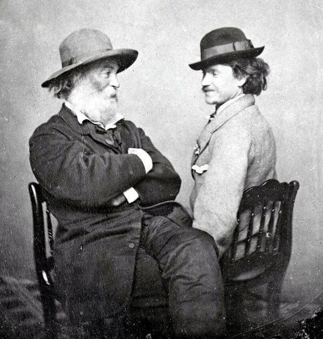 Walt Whitman and Peter Doyle, circa 1869