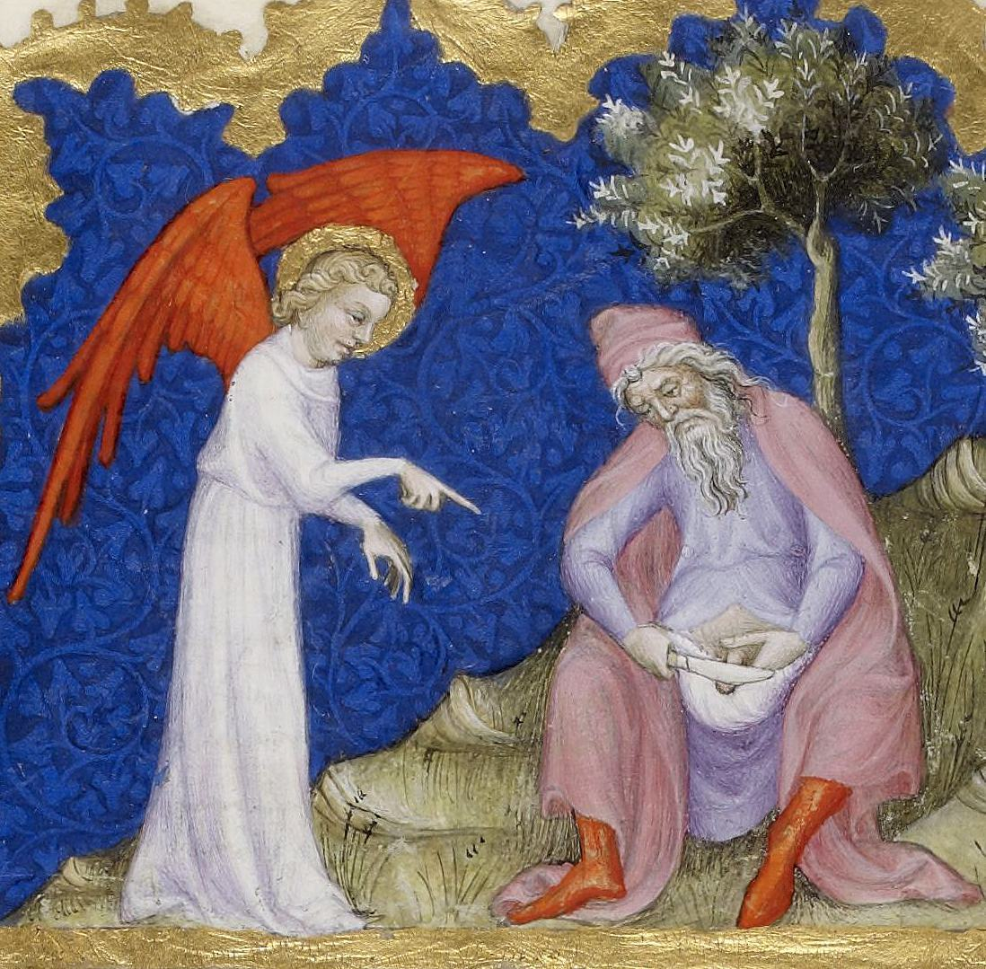 (circumcision of Abraham, Genesis 17-23-26) Bible of Jean de