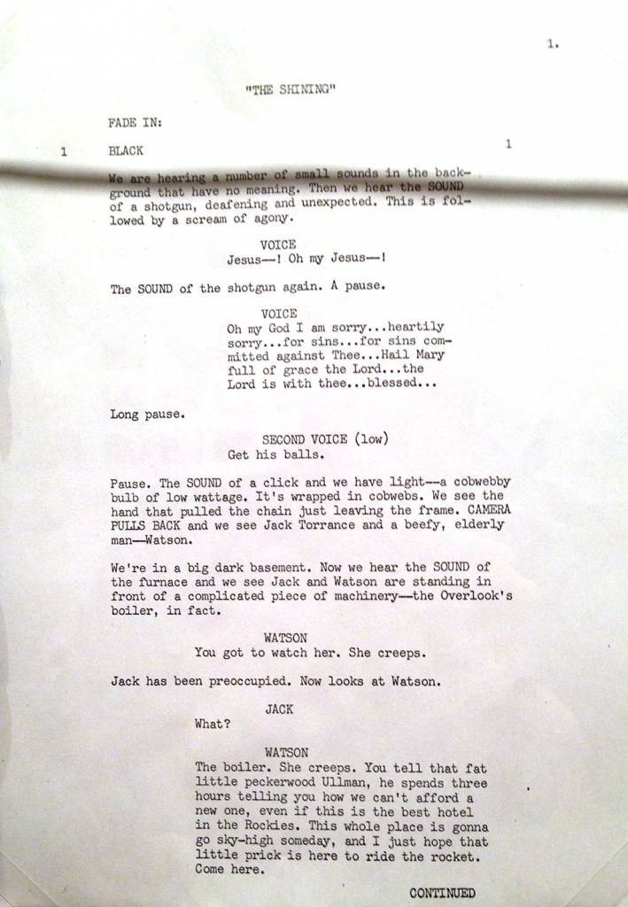 King's screenplay Page 1