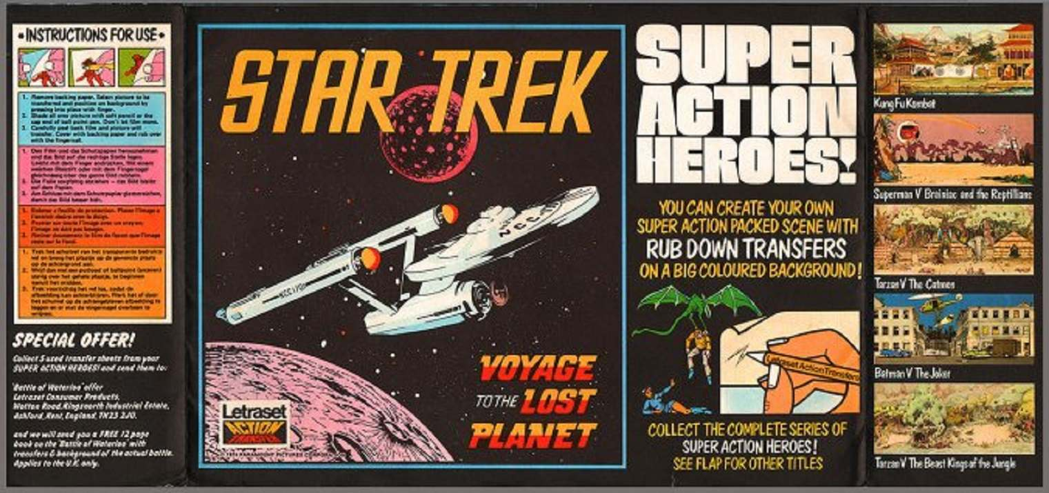 create your own super-packed action scene! remembering letraset