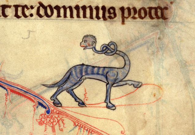 Long Neck, from Book Of Hours, England, early 14th century