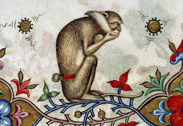 The Thinker Monkey, from the Breviary of Mary of Savoy, Lombardy, c. 1430