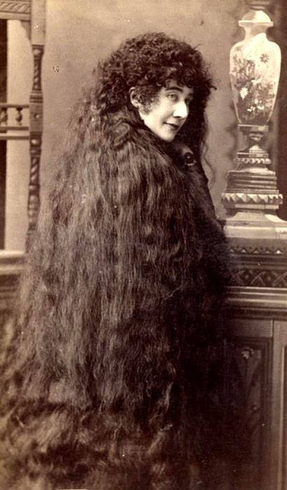 Victorian women long hair